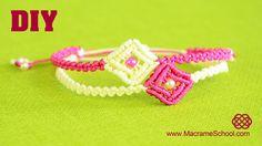 DIY Easy Macramé Square Bracelet Tutorial