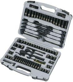 Stanley 99 Piece Black Chrome Laser Etched Tools Mechanics Socket Set, 92-839 #Stanley