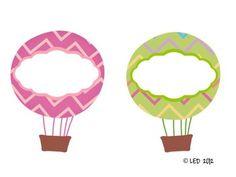 Hot Air Balloon Nametags