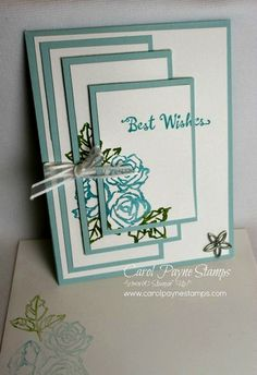 Stampin' Up! Petal Palette from the 2018 Occasions Catalog with the Triple Time stamping technique. Handmade birthday cards. #carolpaynestamps
