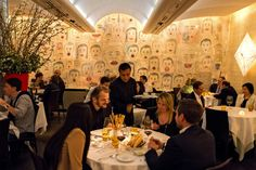 art by Donald Baechler at Caravaggio restaurant on UES
