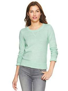 Heathered sweater in quince   Gap