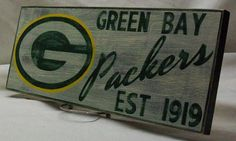 Green Bay Packers sign by Rt66VintageSigns on Etsy