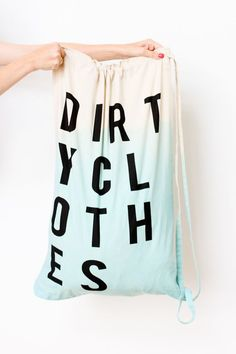 Dip Dye Laundry Bag