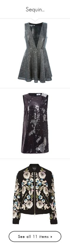 """Sequin..."" by mirakerbaje ❤ liked on Polyvore featuring Boots, dress, top, Sequin, dresses, vestidos, metallic, short sequin cocktail dresses, sleeveless dress and short sequin dress #ShortDressesandBoots"