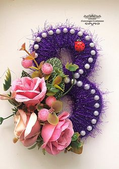 Новости 8 Martie, Pebble Art, Floral Wreath, Wreaths, Handmade, Home Decor, Pi Day, Hand Crafts, Hand Made