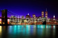 Brooklyn Bridge At Night Landscapes Poster - 91 x 61 cm