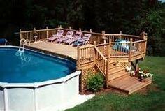Above Ground Pool Deck Design Ideas | Yard ideas | Pinterest | Deck ...