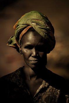 River Woman in Kenya