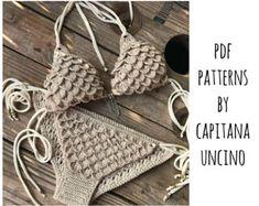 PDF Crochet PATTERN for Lorelei Crochet Bikini by CapitanaUncino