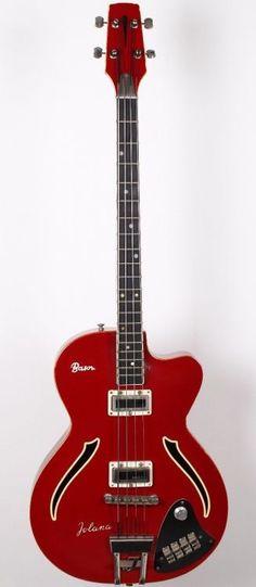 60's Jolana Basora 2 Hollowbody Bass Guitar