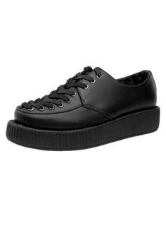 Black Leather Corset Creeper
