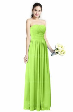 Bright Green Cinderella A-line Strapless Zip up Floor Length Ruching Plus Size Bridesmaid Dresses