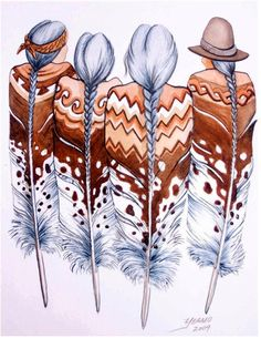 Super Ideas for wall painting ideas indian art Feather Painting, Feather Art, Tattoo Feather, Haida Kunst, Native American Paintings, Native American Drawing, Native American Patterns, Native American Decor, Southwest Art