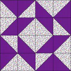 Windblown block tutorial. 8 - 1/2 inch
