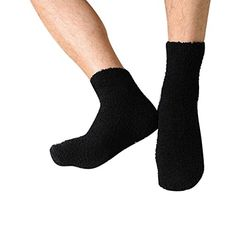 Rukiwa Mens Thick Warm Coral Fleece Slipper Nonslip Cotton Socks Floor Towel Black >>> Check out the image by visiting the link.Note:It is affiliate link to Amazon.