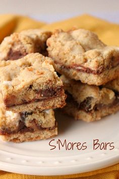 Soft and Chewy S'mores Bars - These are delicious and so easy to make.