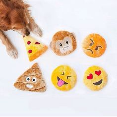 Squeakie Emojiz Dog Toys - $6
