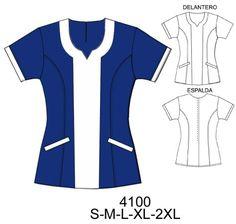 Delantales Scrubs Pattern, Suit Pattern, Work Fashion, Fashion Outfits, Teacher Dresses, Scrubs Uniform, Couture, Fashion Sketches, Blouse Designs