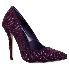 Buy Carvela Gemini Embellished High Heeled Courts, Purple Online at johnlewis.com