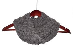 Gray Chevron Infinity Loop Wool and Alpaca Scarf  by hideandhair, $35.00