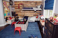 Project Nursery - Boys Pallet Wall Room