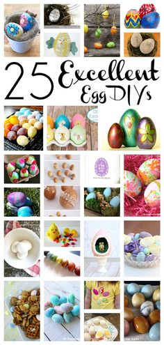 25 fun and colorful Easter egg DIY projects for you to make and share!