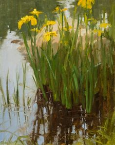 """Summer Reflection"" was completed in a workshop I was assisting with Dan Young, again with the Steamboat Art Museum. Art Van, Landscape Art, Landscape Paintings, Oil Paintings, Oil Painting Flowers, Mountain Paintings, Still Life Art, Arte Floral, Pastel Art"