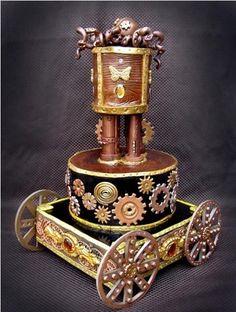 CLOCKPUNK • STEAMPUNK WEDDING CAKE - This is my dream cake!