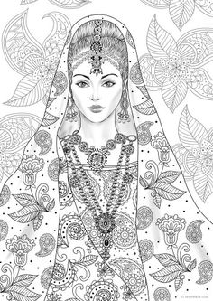 beautiful girls printible coloring pages - photo#33