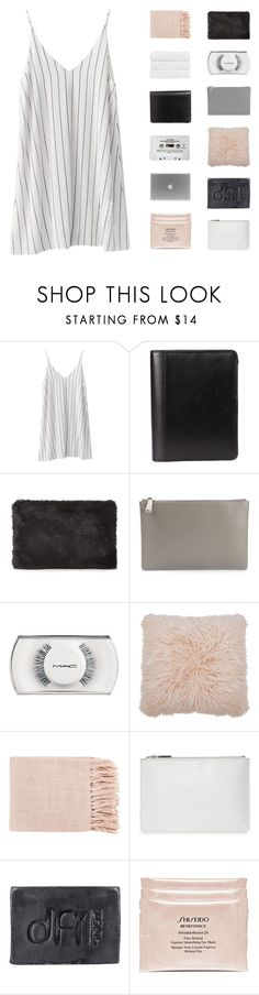 """""""★★"""" by sewing-girl ❤ liked on Polyvore featuring Whistles, Jil Sander, MAC Cosmetics, CASSETTE, M&Co, Surya, Dfi, Shiseido and Christy"""