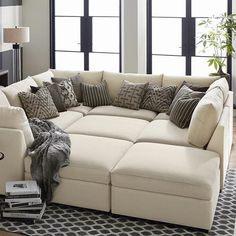 Buy Custom Upholstered U-Shaped Sectional at Bassett Furniture. Large home furnishings selection. Sales and discounts available.