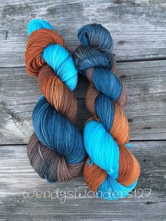Hand dyed Yarn Dipping Gradient Sock Yarn by WendysWonders127
