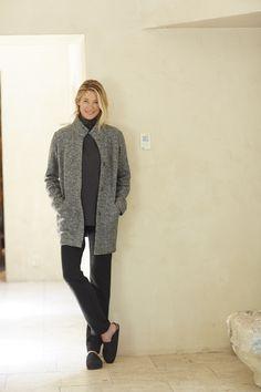 Pure Jill marled easy coat