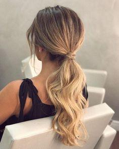 47 gorgeous braid hairstyle inspiration , braids ,hairstyles ,braided ponytails , textured ponytails… - Home Homecoming Hairstyles, Formal Hairstyles, Easy Hairstyles, Wedding Hairstyles, Low Pony Hairstyles, Ponytail Hairstyles For Prom, Hairstyle Ideas, Hair Ideas, Teenage Hairstyles