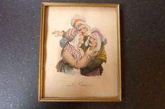 Ancienne-lithographie-Delpech-Boilly-034-Les-Cancans-034-XXeme
