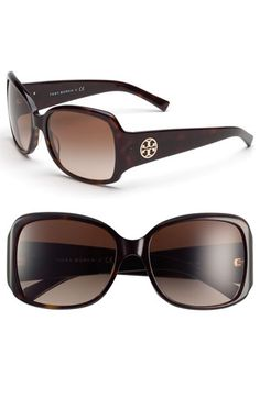I always get sunglasses at the Anniversary sale. These might be the ones for this year. Tory Burch Oversized Square Sunglasses available at #Nordstrom