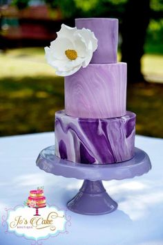 Marbled fondant wedding cake by Joscakeboutique - http://cakesdecor.com/cakes/256024-marbled-fondant-wedding-cake
