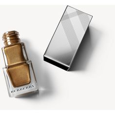 Burberry Nail Polish - Antique Gold No.445 (1.355 RUB) ❤ liked on Polyvore featuring beauty products, nail care, nail polish, burberry nail polish, burberry, formaldehyde free nail polish and shiny nail polish