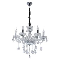 6 Light Candle-Style Chandelier Home Loft Concept Finish: Chrome Loft, Chrome, Chandelier, Concept, Ceiling Lights, Candles, Crystals, Lighting, Modern
