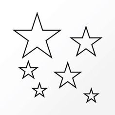 Temporary Tattoo Hollow Stars by Lamodefr on Etsy- Tatouage temporaire Etoiles creuses par Lamodefr sur Etsy Temporary Tattoo Hollow Stars by Lamodefr on Etsy - Machine Silhouette Portrait, Star Silhouette, Line Tattoos, Star Tattoos, Tattoos For Guys, Star Tattoo Designs, Star Designs, Star Template Printable, Sun Tattoo Tribal