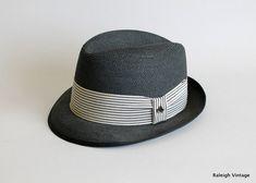b92e9e76779 Vintage 1950s MENS Hat   50s 60s Stetson Straw Fedora