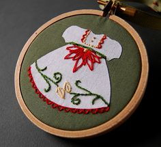 Poinsettia Dress from Jingle Belles Pattern Set   Flickr - Photo Sharing!