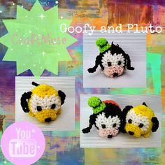 Rainbow Loom Loomigurumi Goofy or Pluto (Inspired by TSUM TSUM)