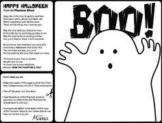 Printable Halloween Treat Phantom