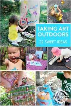 22 Outdoor Art Ideas For Kids, Creative Summer Fun