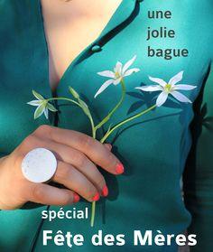 Offre spéciale Fête des Mères chez Delphine ISKANDAR : une jolie bague céramique pour les Mamans :)
