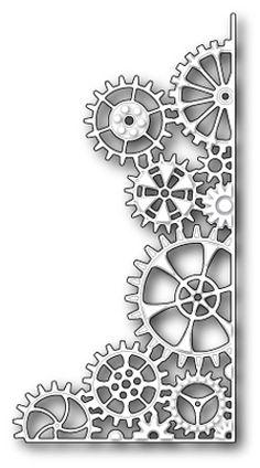 Memory Box Die - New Release - Steampunk Corner (Gadget Gears, Cogs) Steampunk Drawing, Steampunk Kunst, Steampunk Gears, Steampunk Makeup, Steampunk Costume, Steampunk Fashion, Steampunk Outfits, Steampunk Gadgets, Steampunk House