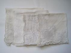 Vintage Handkerchiefs  4 Wedding White Dainty for by apotofbasil