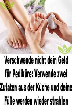 farbe Do not waste your money on pedicures: use two ingredients from the kitchen and y. Do not waste your money on pedicures: use two ingredients from the kitchen and your feet will be Fitness Workouts, Wellness Tips, Health And Wellness, Diy Beauty, Beauty Hacks, Daily Health Tips, Health Promotion, Be A Nice Human, Reflexology